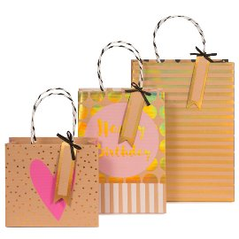gift bags/triple assorted/18x16x8/