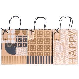gift bags/triple mix/18x25x8cm