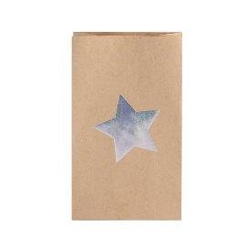 Geschenktaschen 12er Set Stern Silber
