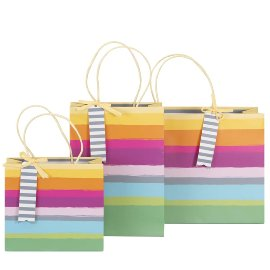 Gift bag set stripes