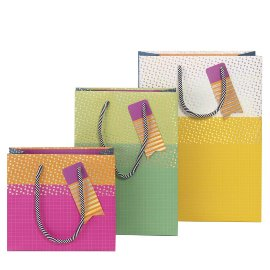 Gift bag set colour blocking