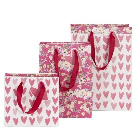 Gift bag set hearts