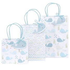 Gift bag set wale blue