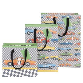 Gift bag set race cars