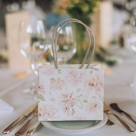Guest gift bag 6 pcs. set flower