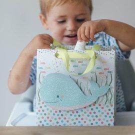 Geschenktasche Baby Wal 3D