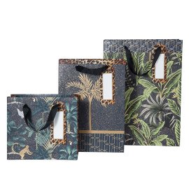 Gift bag set jungle couture