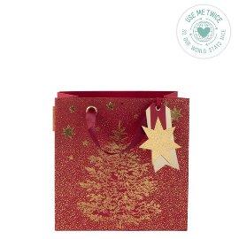 Geschenktasche Weihnachten Baum Rot