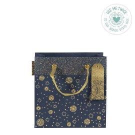 Christmas gift bag stars blue