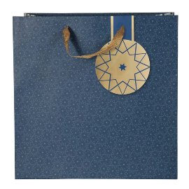 Christmas gift bag stars blue