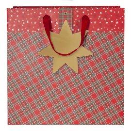 Geschenktasche Weihnachten Karo