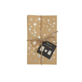 Gift bags 12pcs stars silver