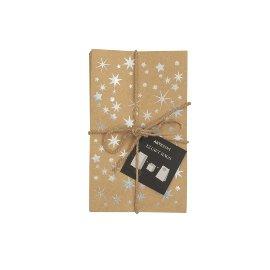 Geschenktaschen 12er Set Sterne Silber
