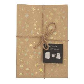 Geschenktaschen 12er Set Sterne Gold