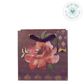 Geschenktasche Aquarellrose Beere