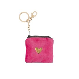 Key ring bag velvet heart
