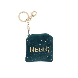 Key ring bag velvet hello