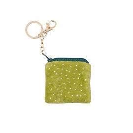 Key ring bag velvet dots