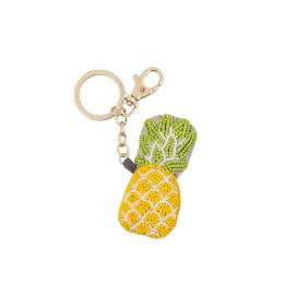 Key ring pearls pineapple