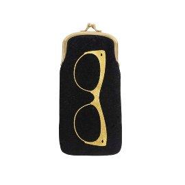 Glasses case velvet black