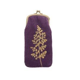 Glasses case branch velvet violet