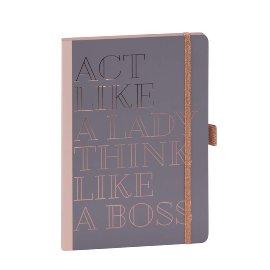Notebook A5 act like a lady think like a boss