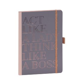 Notizbuch act like a lady think like a boss DIN A5