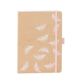 Notebook A5 kraft feather