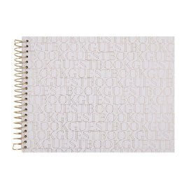 Guestbook spiral white