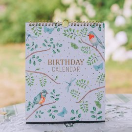 Birthday Calender Birds