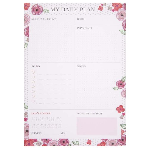 Daily planner blossoms