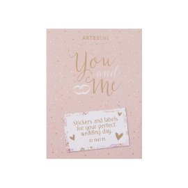 Sticker pad wedding you and me