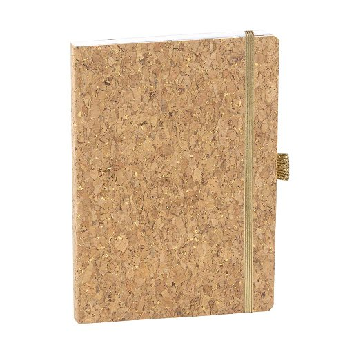 Notizbuch A5 Kork Gold
