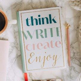 Notizbuch A5 Think Write Create Enjoy