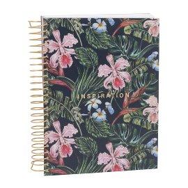Notebook Spiral Orchids