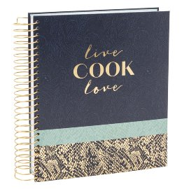 Recipe book spiral Live cook love