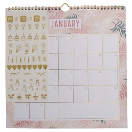 Birthday calendar sticker jungle couture