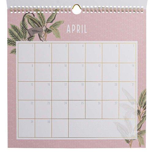 Birthday calendar sticker jungle couture