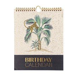 Birthday calendar jungle couture