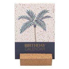 Birthday desk calendar palm