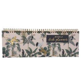 Alljahres-Wochentischkalender Querformat Jungle Couture