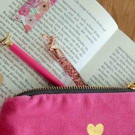 Pen rabbit glitter roségold