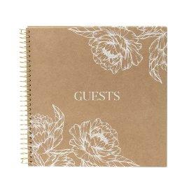 Gästebuch Organics Spirale Kraftpapier Blüten