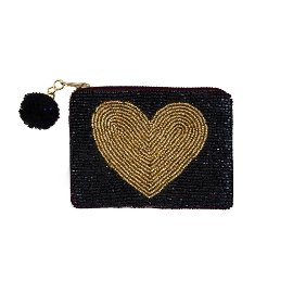 coin pouch/beads/12x8cm