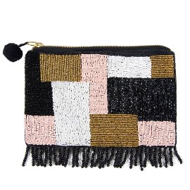 Perlentasche Clutch Squarepatch