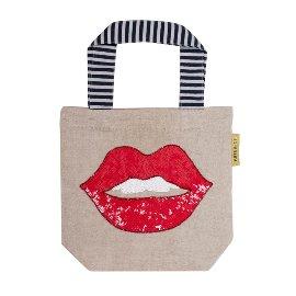 Mini Bag Pailletten Lippen