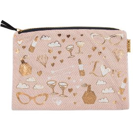 cosmetic bag/cotton/22x15cm