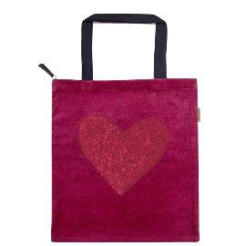 Shopper Lieblingstasche Samt Herz