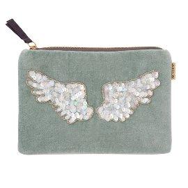 cosmetic bag/velvet/sequins/22x15cm