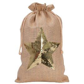 XL gift sack/jute/45x70cm